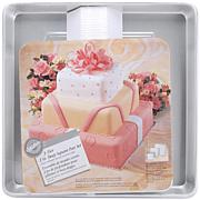 "Wilton Deep Cake Pan Set - 8"", 12"" and 16"" Square"