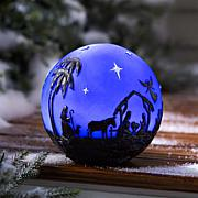 Wind and Weather Glowing 3D Nativity Globe