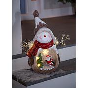 Wind and Weather Holiday Resin Statuette with Lit Scene