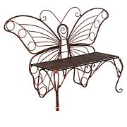 Wind and Weather White Butterfly Bench