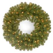 "Winter Lane 24"" North Valley Spruce Wreath w/Lights"