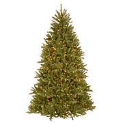 Winter Lane Dunhill Fir Hinged Tree with Clear Lights