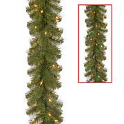 Winter Lane 9'Battery-Operated N. Valley Garland