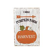 Winter Lane Pumpkin Farm Wood and Metal Harvest Wall Décor