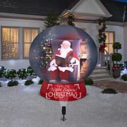 Winter Lane Santa Inflatable & LightShow Projector Set