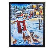 Winter Lane Fiber-Optic Christmas Canvas Art