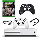 """Xbox One S 500GB Console """"Call of Duty: WWII"""" Game"""