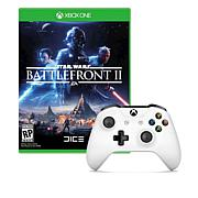 Xbox One White Wireless Controller + Battlefront 2 Game