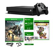 "Xbox One X 1TB 4K Console with ""Titanfall 2"" and ""Rare Replay"" Games"