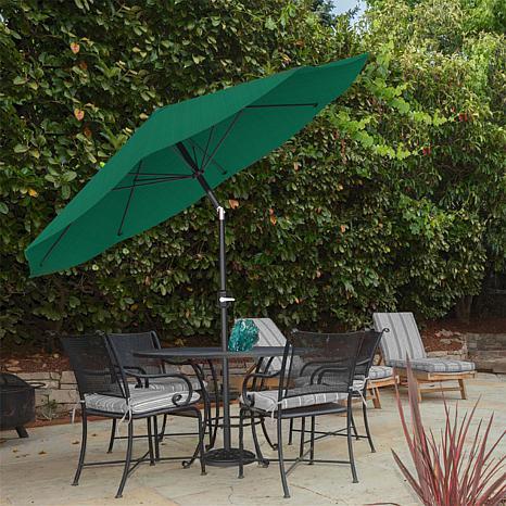 Bon 10u0027 Auto Tilt Patio Umbrella With Easy Crank   Hunter Green