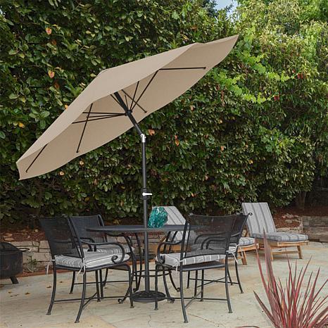 10u0027 Auto Tilt Patio Umbrella With Easy Crank   Sand