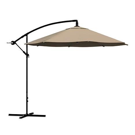 10 hanging cantilever patio umbrella sand - Cantilever Patio Umbrellas