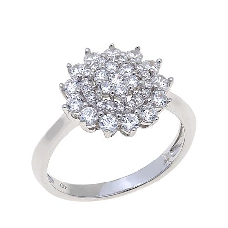 1.03ctw Absolute™ Round Stone Cluster Ring