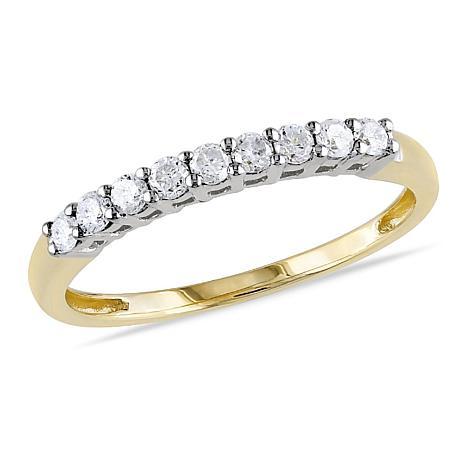 10K Diamond Anniversary Ring