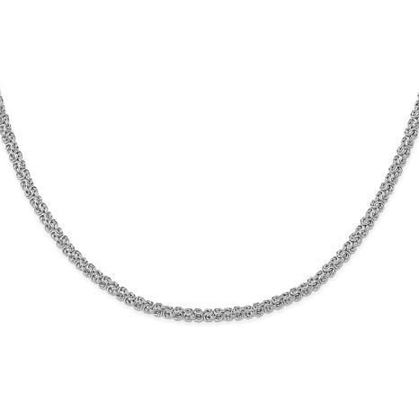 10K White Gold Byzantine Necklace