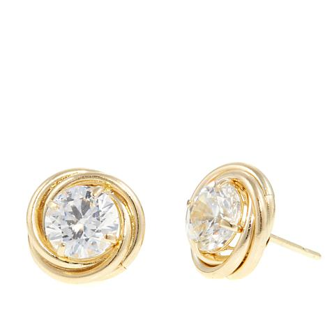 10K Yellow Gold 1.8ctw Absolute™ Love Knot Studs