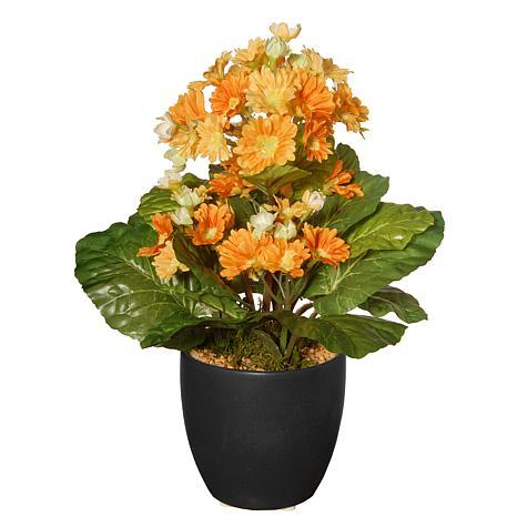 "12"" Artificial Potted Primula Plant"