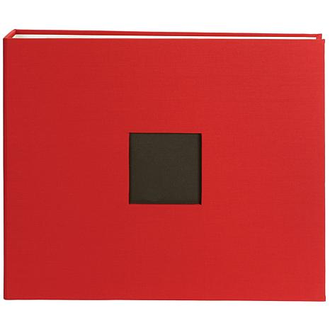 "12"" x 12"" American Crafts Cloth D-Ring Album - Red"