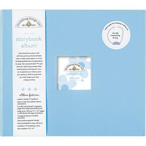 """12"""" x 12"""" Storybook Album - Bubble Blue"""