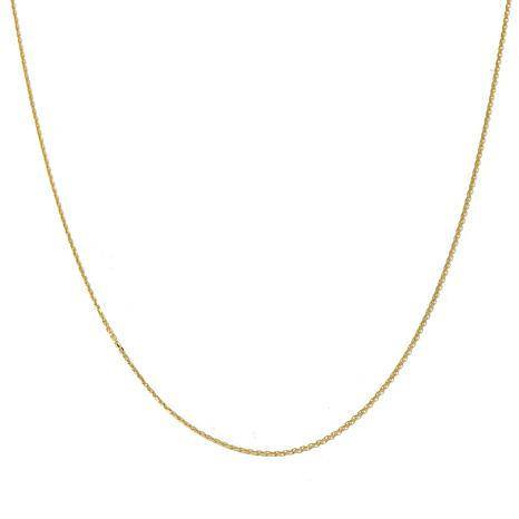 """14K 1.1mm Cable Chain 20"""" Necklace"""