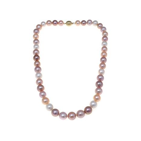 "14K 12-15mm Multicolor Ming Cultured Pearl 24"" Necklace"