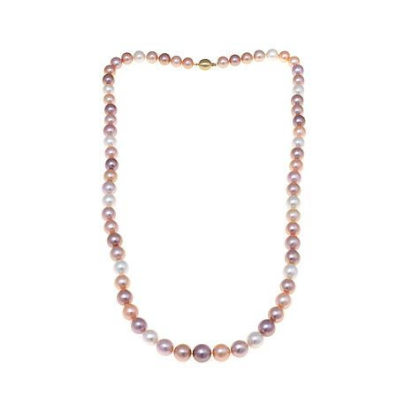 """14K 12-15mm Multicolor Ming Cultured Pearl 35"""" Necklace"""