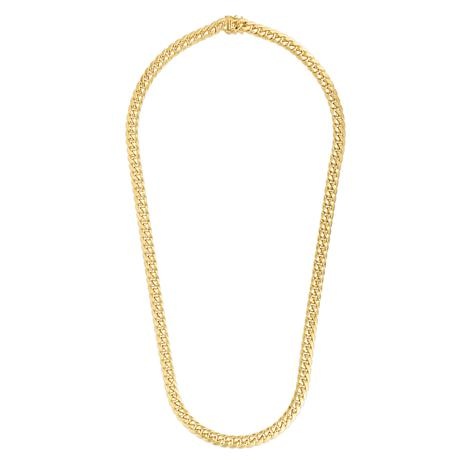 14K 7.25mm Semi-Solid Miami Cuban Chain Necklace with Figure 8 - 26""