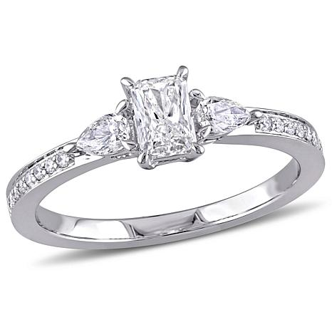 14K White Gold 0.61ctw Diamond Engagement Ring