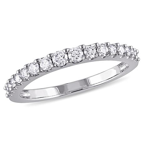 14K White Gold .38ctw White Diamond Wedding Band Ring