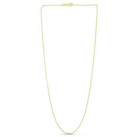 """14K Yellow Gold 0.9mm Diamond-Cut Lumina Chain Necklace - 16"""""""