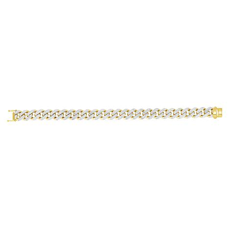 "14K Yellow Gold 11.3mm Light Miami Cuban Chain Bracelet - 8-1/2"""