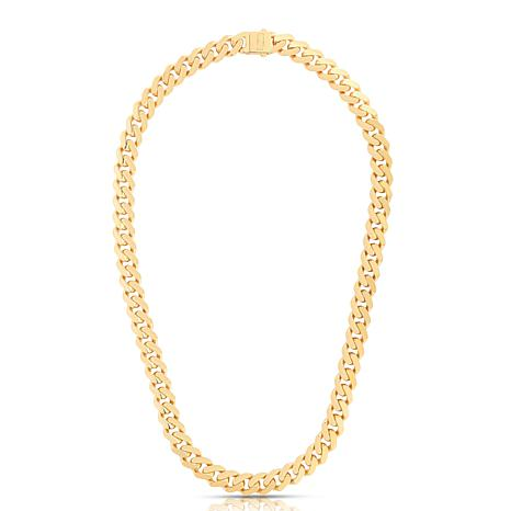 """14K Yellow Gold 11.3mm Polished Light Miami Cuban Chain Necklace - 24"""""""