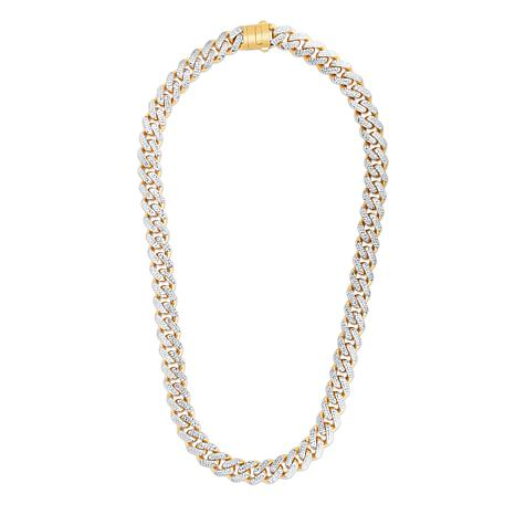 14K Yellow Gold 13.5mm Light Miami Cuban Chain Necklace - 24""
