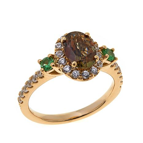 14K Yellow Gold 2.11ctw Andalusite and Gem Ring