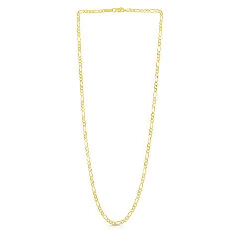 "14K Yellow Gold 2.8mm Diamond-Cut Figaro Chain Necklace - 22"""