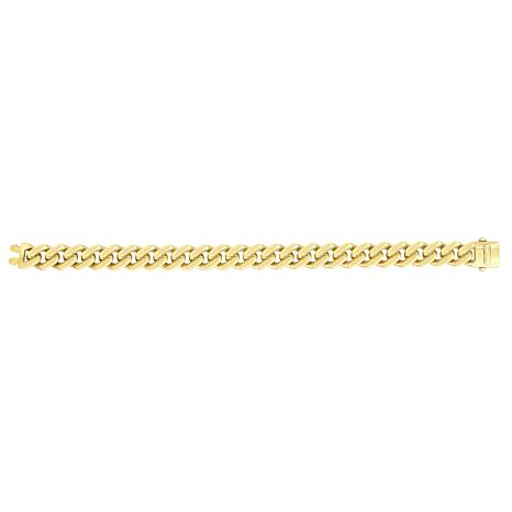"14K Yellow Gold 9.5mm Polished Lt Miami Cuban Chain Bracelet - 8-1/4"""
