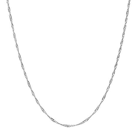"15"" 14K Gold Polished Singapore Chain"