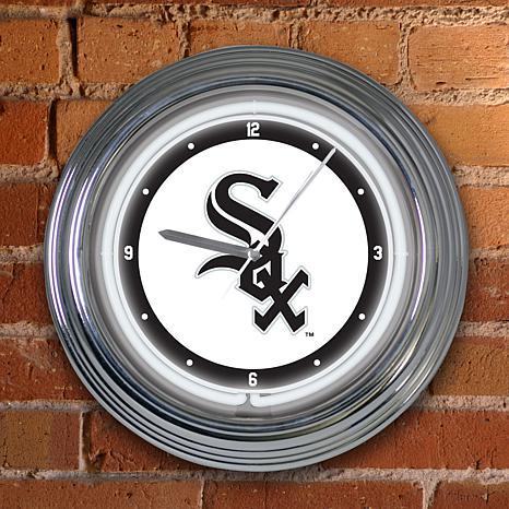 "15"" Neon Team Clock - Chicago White Sox - MLB"