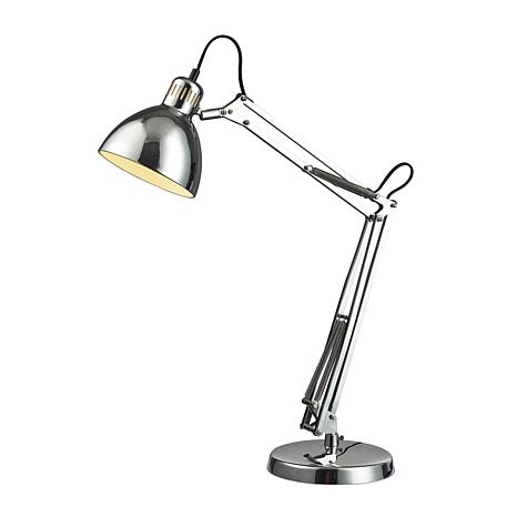 "16"" Ingelside Chrome Desk Lamp"