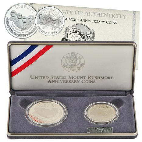 1991 Mount Rushmore 2-piece Proof Coin Set