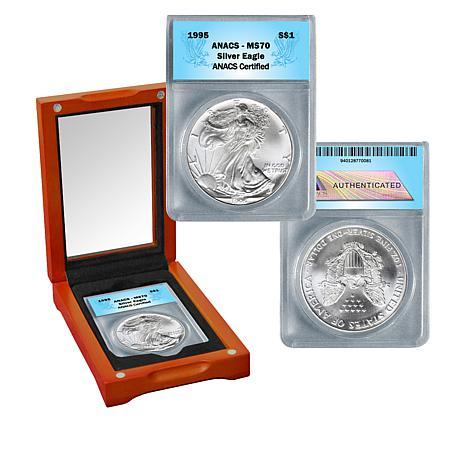 1995 MS70 ANACS Silver Eagle Dollar Coin