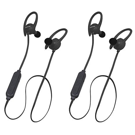 2-pack Toshiba AirFit2 Wireless Water-Resistant Earbuds