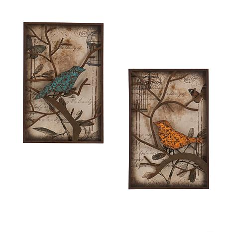 2 Piece Panel Wall Art Set Bird