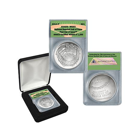 2014 MS69 Baseball HOF Silver Dollar Coin