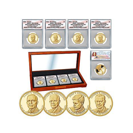 2015 PR70 ANACS FDOI LE 3927 Presidential Dollar Set
