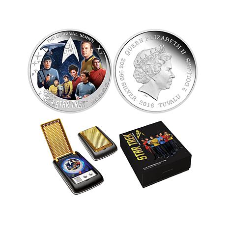 2016 Proof Star Trek U.S.S. Enterprise Crew 2 oz. Silve