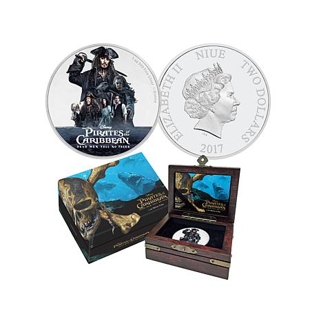 "2017 Disney ""Pirates of the Caribbean"" $2 Silver Coin"