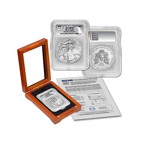 2017 MS70 ICG FDOI LE Silver Eagle Dollar Coin