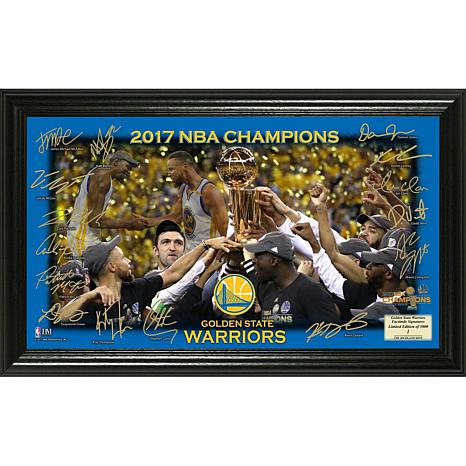 2017 NBA Champions Celebration Signature Court Photo