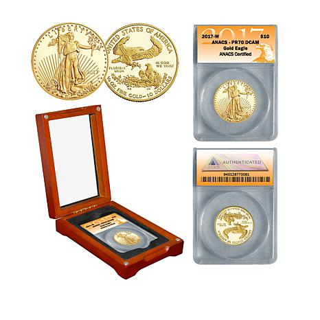 2017 PR70 DCAM ANACS 1/4 Ounce $10 Gold Eagle Coin